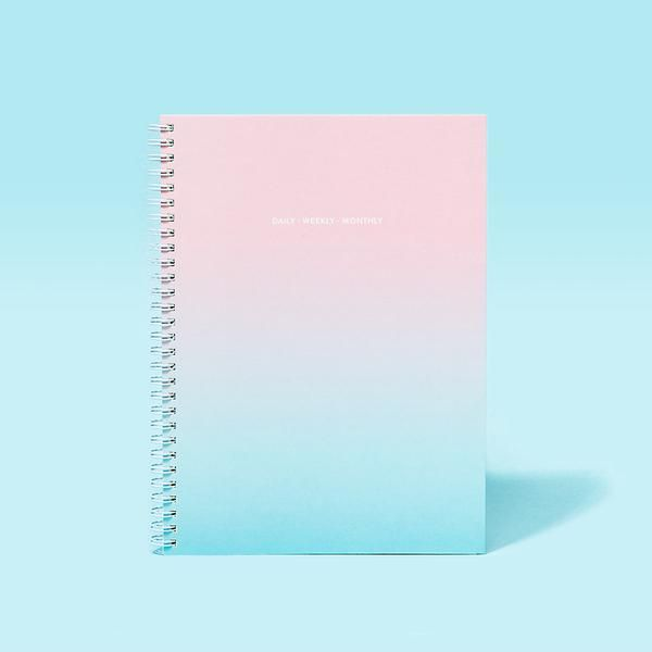 Daily Weekly Monthly Planner in Gradient