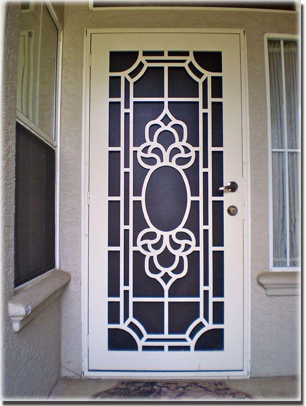 Atozscreens Sacramentoca Titanwhitescreendoorpattern Entry Door Designs Metal Doors Design Door Design Interior