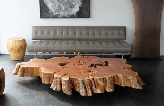 Tree Trunk Coffee Table I Can Build It Pinterest