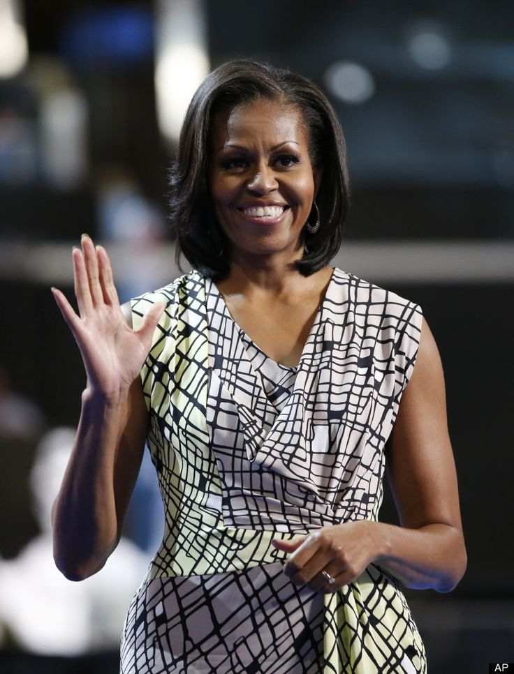 Michelle Obama at Democratic National Convention center to do a run-through on her speech for September 4, 2012