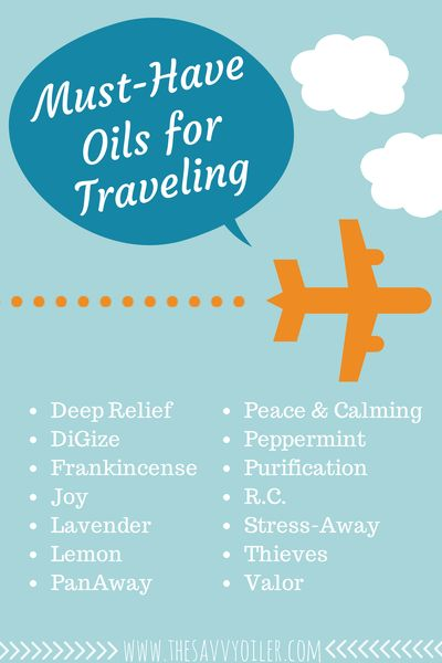 Essential Oils for Traveling | Young Living | Do you have your oils for vacation?  Come visit me at:  http://www.thesavvyoiler.com/order-oils/