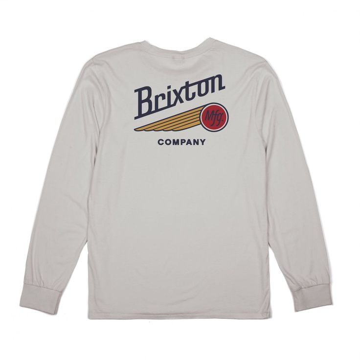 MAVERICK L/S POCKET TEE - Tees - Clothing - Men's | BRIXTON Apparel, Headwear, & Accessories