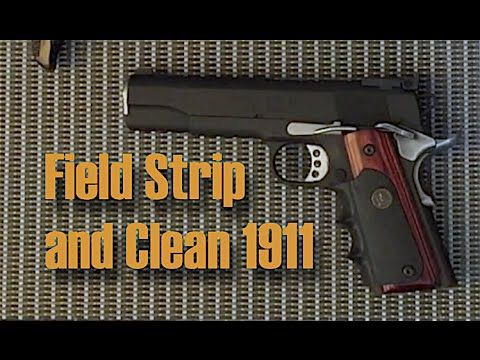 Can field strip springfield model 1911 regret, but