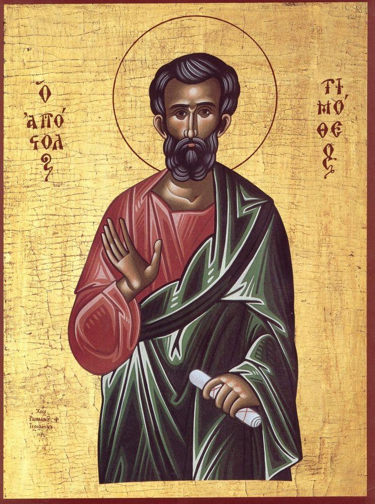 Τη μνήμη του Αγίου Τιμοθέου του Αποστόλου τιμά στις 22 Ιανουαρίου εκάστου έτους η Εκκλησία μας.