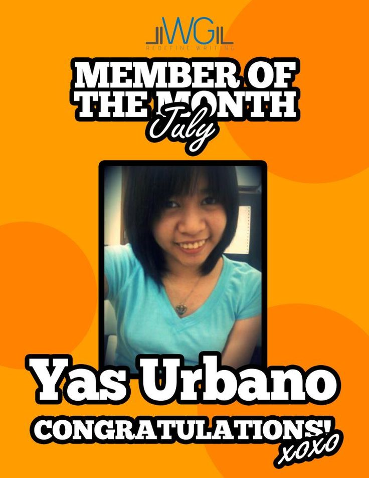 Yasmine Urbano - Member of the Month for July