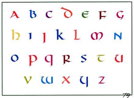 Godelief Tielens copyr. / Unciaal alfabet
