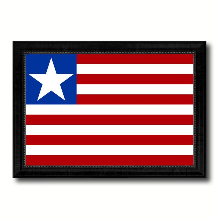 Liberia Country Flag Canvas Print, Picture Frame Home Decor Gifts Wall