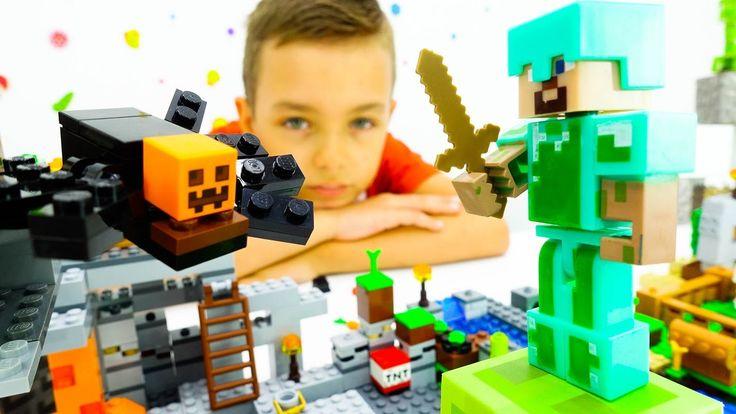 MINECRAFT! Смотри видео с Лего Майнкрафт! Непростая жизнь Стива в мире М...