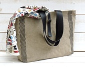 Amy Tweed Herringbone Wool and Alpaca Black and White by ikabags
