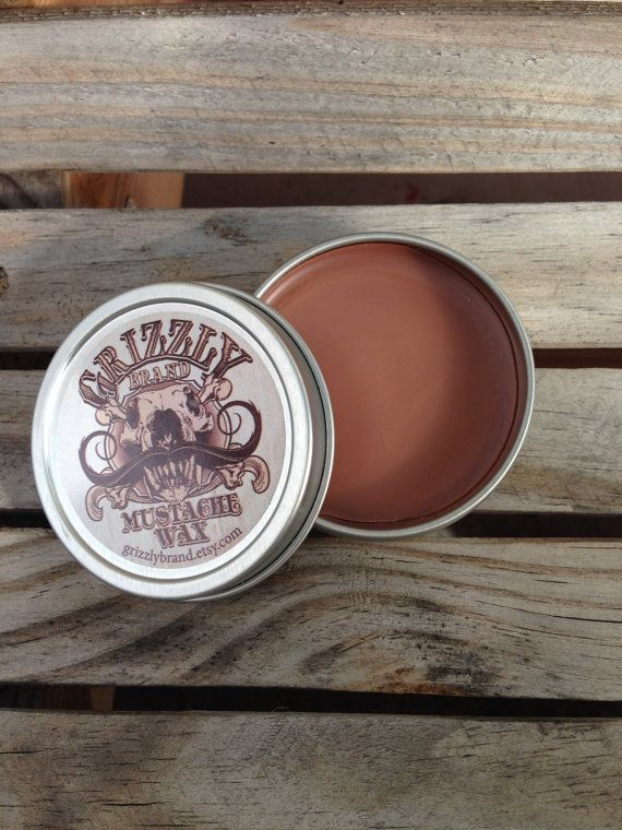 Grizzly Brand Mustache Wax Dark Brown Color by GrizzlyBrand, $8.00  Male grooming for the man