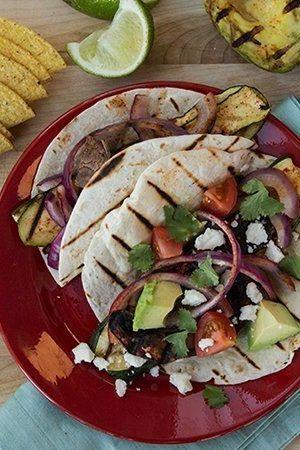 Grilled Veggie Ten Minute Tacos!