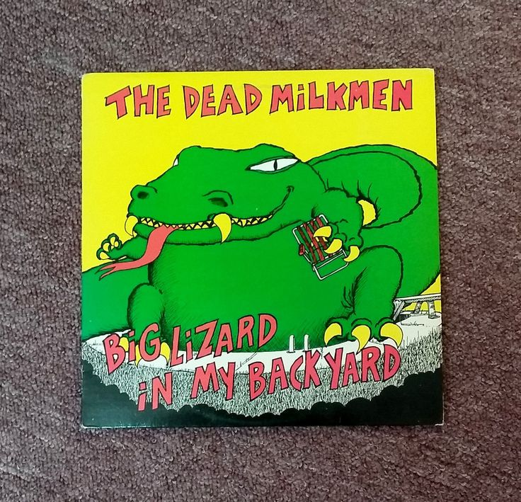 Vintage Vinyl Record Album The Dead Milkmen Big Lizard in My Back Yard 1985 Fever Records Enigma 80's Punk Rock n Roll Music Bitchin' Camaro by OffbeatAvenue on Etsy