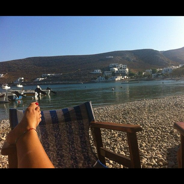 Relax in the most beautiful #Greekisland #Folegandros at #Hohlidia #beach