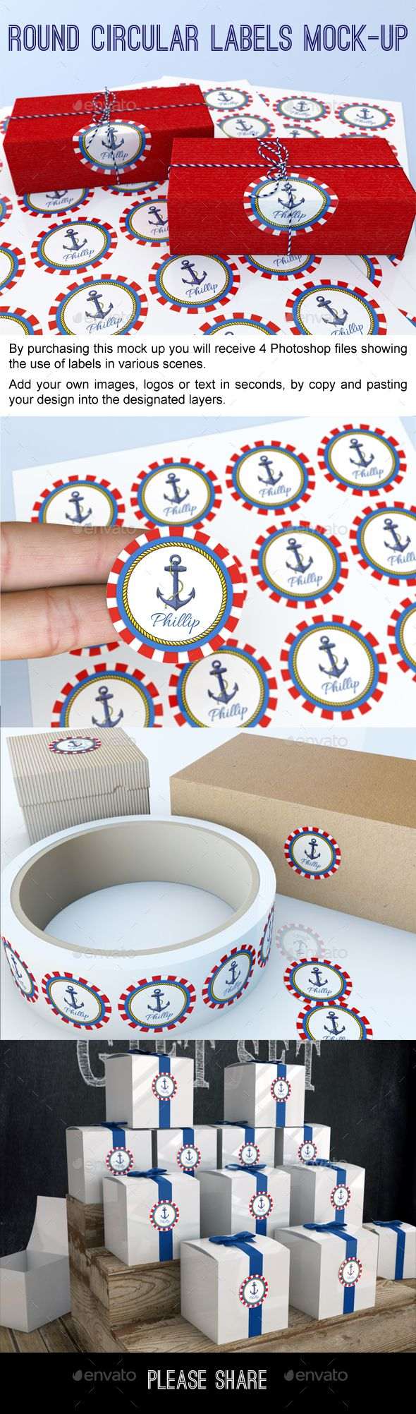 Round Circular Labels and Stickers #Mock-Up - #Signage Print Download here: https://graphicriver.net/item/round-circular-labels-and-stickers-mockup/19711743?ref=alena994