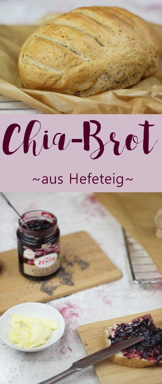 Rezept: Selbst gebackenes Chia Brot mit frischer Hefe - kein Sauerteig. Schnell, einfach und lecker. #food #foodblogger #chia