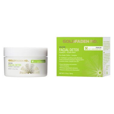Goldfaden MD Treat troubled skin to a detox with this deeply clarifying, corrective facial mask. Formulated to banish blemishes, blackheads and visible pores whilst soothing redness and irritation for a clearer, more even-toned complexion.