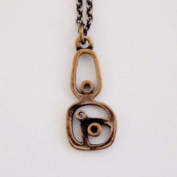 Pentti Sarpaneva for Turun Hopea, Modernist vintage bronze necklace, 1970's. #Finland | Hopea20 / Etsy