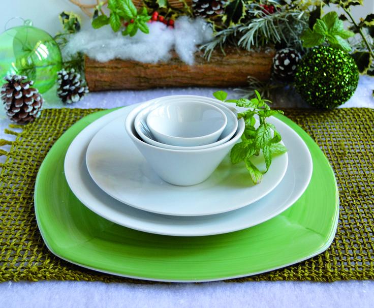 Ancap per un #Natale creativo e dal fresco profumo di menta: per un tocco di naturalità e freschezza ai brillanti #piatti e contenitori in porcellana. #Ancap #porcellana #nature