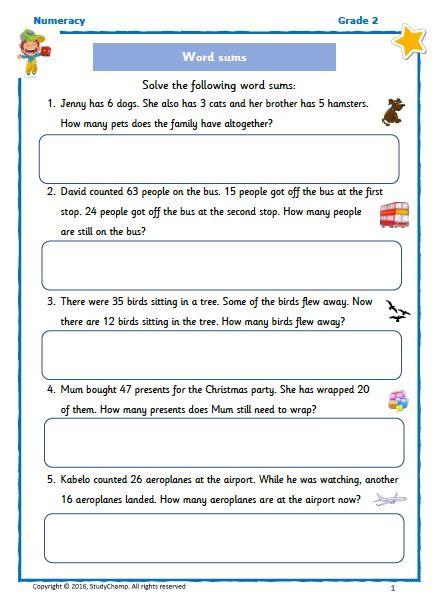 FREE Grade 2: Word Problems