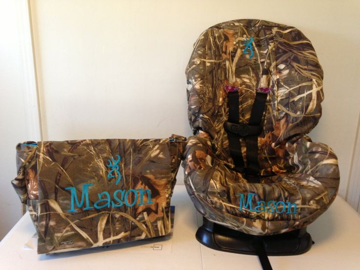 ALL CAMO Toddler Car Seat Cover  & Diaper Bag Set max4, mossy oak or realtree fabric by LIZSSTITCHESdotCOM on Etsy https://www.etsy.com/listing/161618557/all-camo-toddler-car-seat-cover-diaper