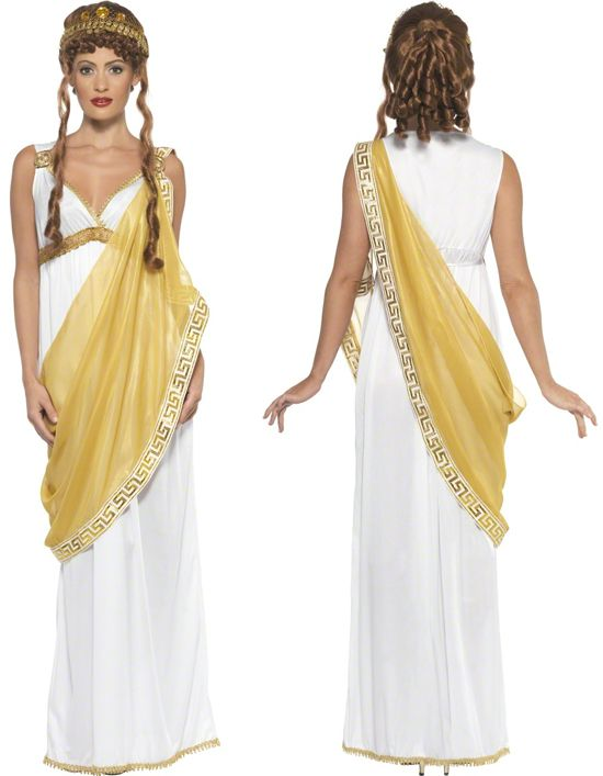 Ladies Helen Of Troy Roman Greek Fancy Dress Costume & Tiara Sizes 8-18 | eBay