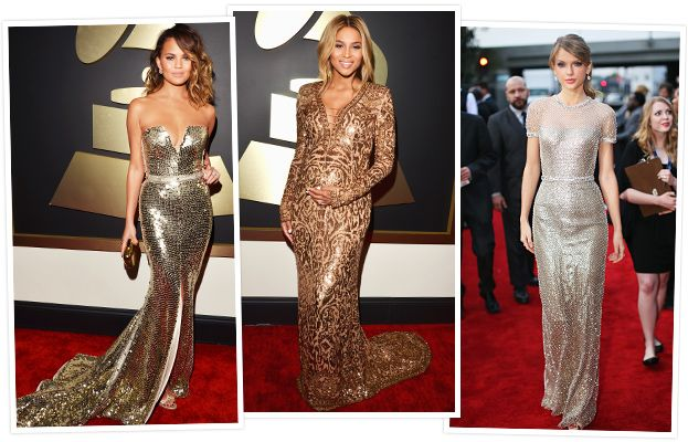 The Hottest Hues on the Grammy Red Carpet: Striking Metallic Shades #InStyle I love Metallic!!!