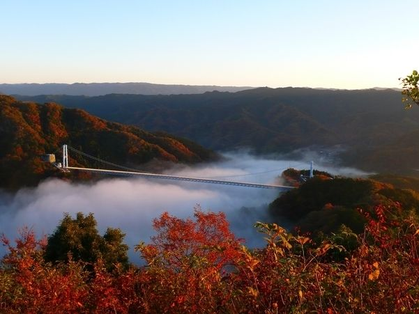 Ryujin Otsuri Bridge Autmun