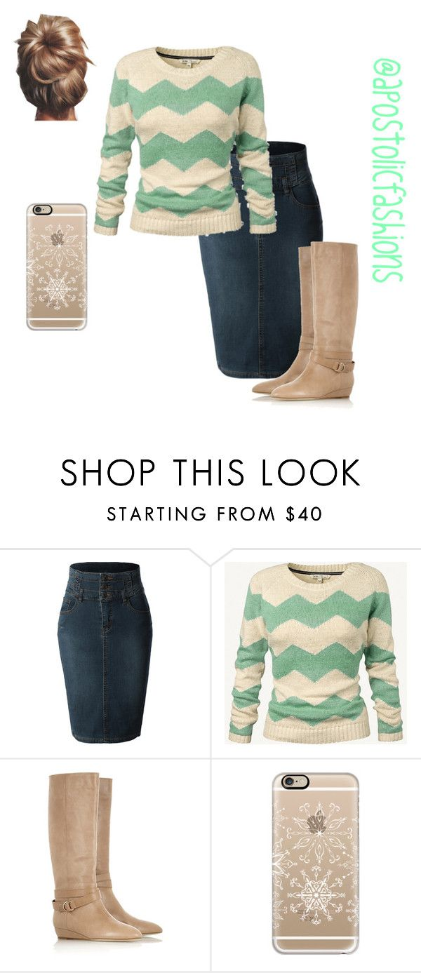 """Apostolic Fashions #954"" by apostolicfashions on Polyvore featuring LE3NO, Fat Face, Loeffler Randall, Casetify and Lauren Conrad"