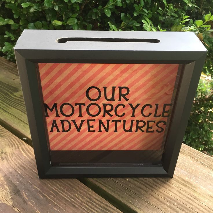 OUR MOTORCYCLE ADVENTURES Ticket Stub Shadow Box, Ticket Holder Box, Anniversary Gift, Admit One, Gifts for motorcyclist, harley riders - pinned by pin4etsy.com