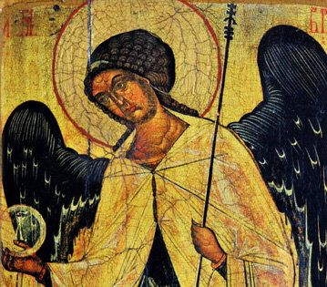 ARCHANGEL GABRIEL XIV th. iconography orthodox by Europeanicons, $149.00