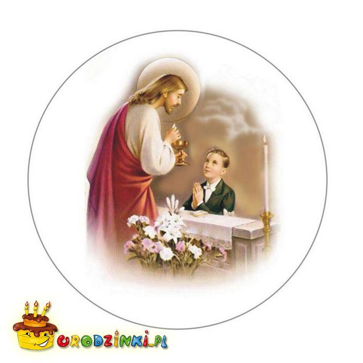Opłatek na tort I KOMUNIA ŚWIĘTA chłopiec 20 cm - 5278148305 - oficjalne archiwum allegro