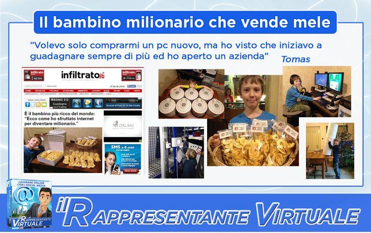 Il bambino milionario che vende mele..