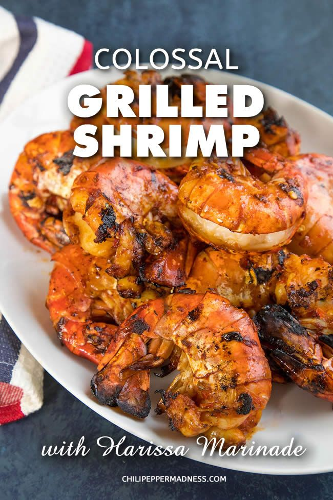 Colossal Grilled Shrimp with Harissa Marinade – | Recipe