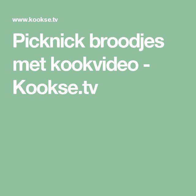 Picknick broodjes met kookvideo - Kookse.tv