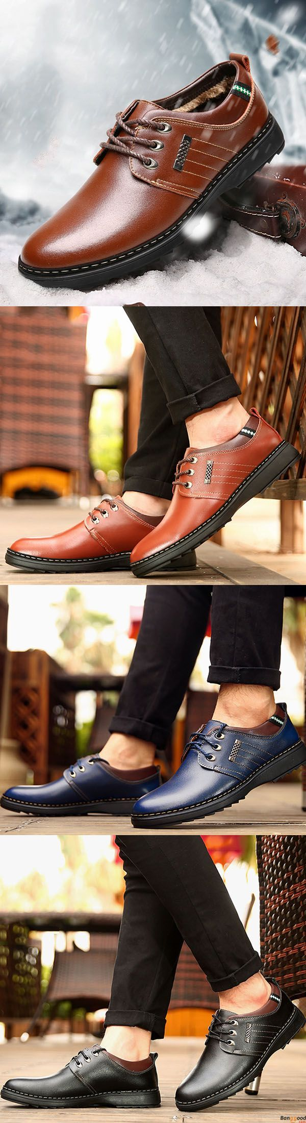US$42.89 + Free Shipping. Men Casual Business Soft Comfy Warm Genuine Leather Lace Up Oxfords Shoes. Business style. Comfy and warm. Shop at banggood with super affordable price.