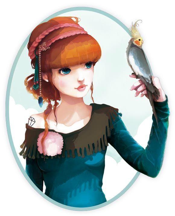 :: Rose et l'oiseau ::