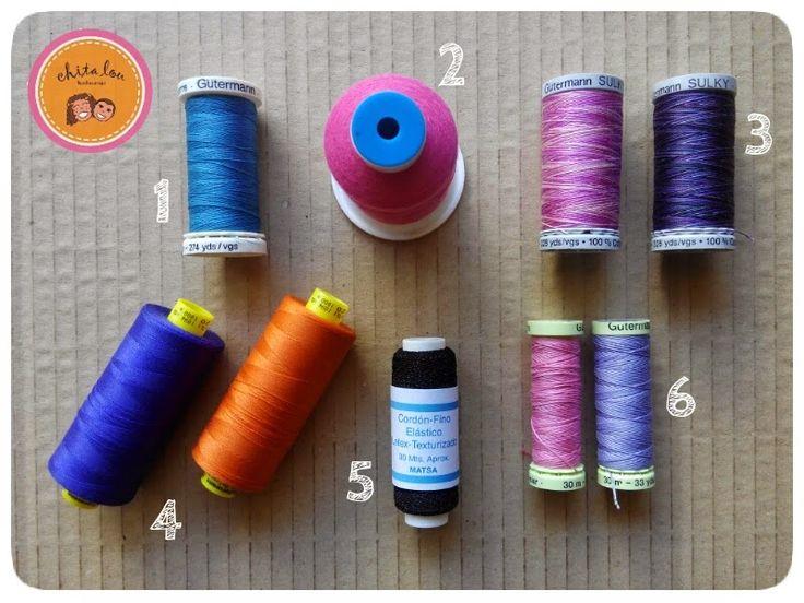 Los mejores hilos para coser a máquina | Chita Lou