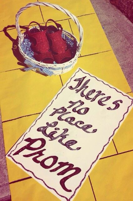 If i only had a brain then i would realize that you have always had my heart and now i have the courage to say: Theres no place like prom//the wizard of oz promposal