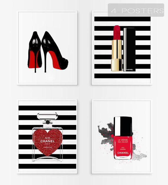 Rouge de labios de Chanel para imprimir. Esmalte de por Byoliart