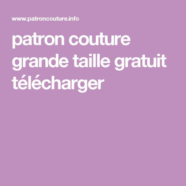 patron couture grande taille gratuit télécharger
