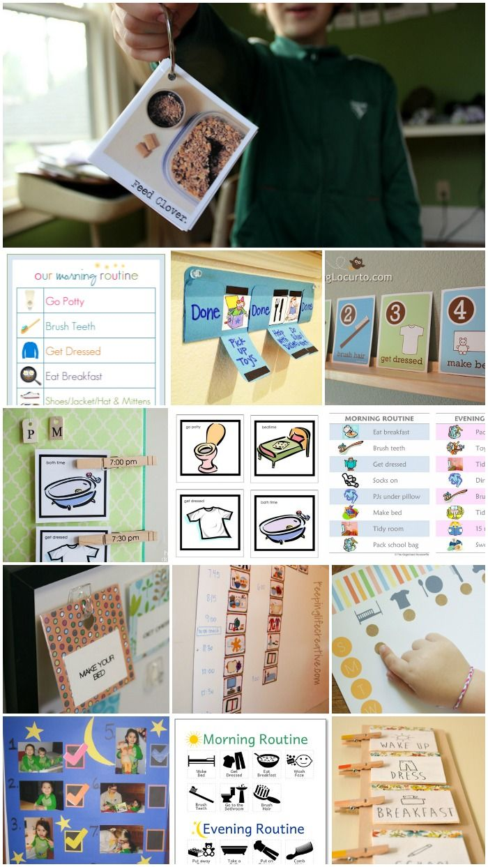 12 Amazing Daily Routine Charts for Kids