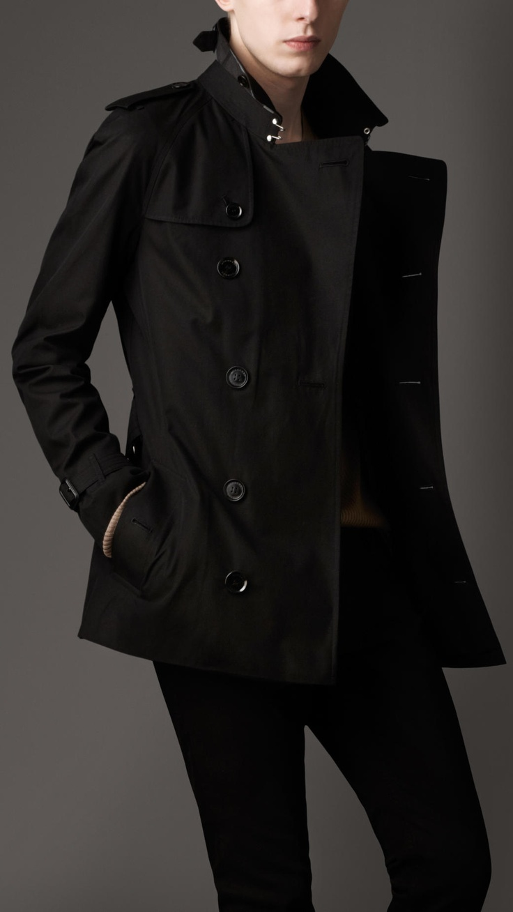 Short Cotton Gabardine Trench Coat Burberry With Images