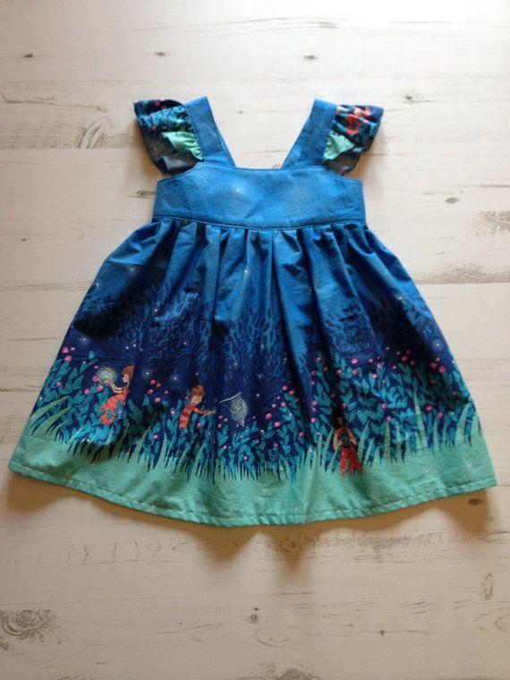 Beautiful Handmade Grace Dress Age 3 Years (Wee Wander Twilight)