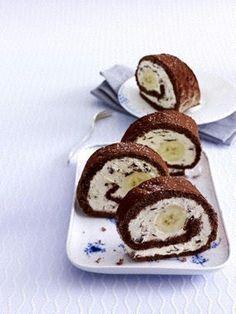 Banana-Split-Biskuitrolle  Schon gebacken und für gut befunden :) (Baking Desserts Banana)