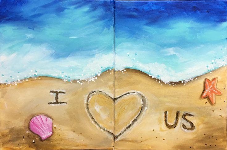 Pin By Kristan Silvestri On Mind Your Business Paint It Up Couples Canvas Painting Couples Art Project Cute Canvas Paintings