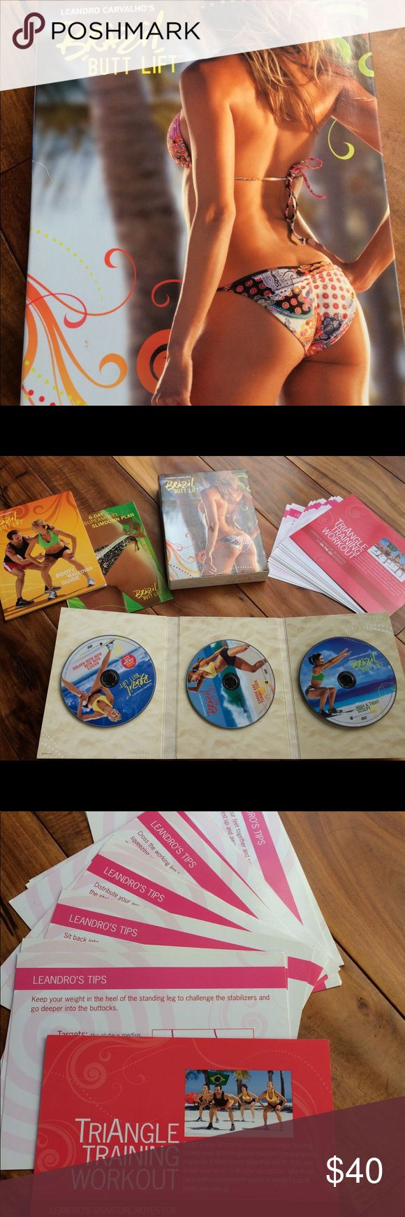 Beachbody Brazilian Butt Lift DVD set Excellent condition. No scratches. Great, fun dance workout. Includes the workout DVDs, the travel workout card set, and the workout calendar. Not included is a band and the nutrition booklet. Other