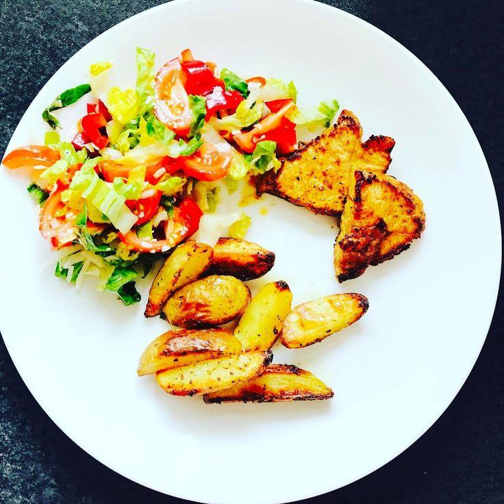 #krutimaso#brambory#salát#obed