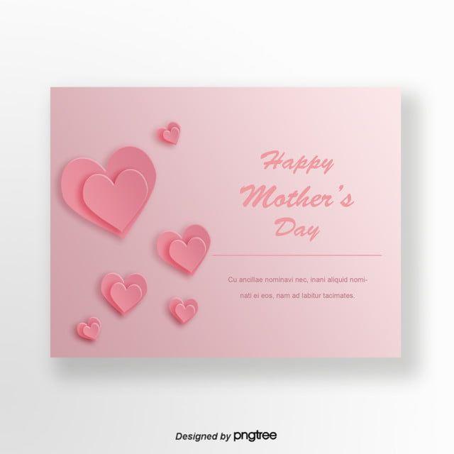 الوردي اوريغامي نمط الحب بطاقات عيد الأم Origami Cards Happy Mothers Day Happy Mothers