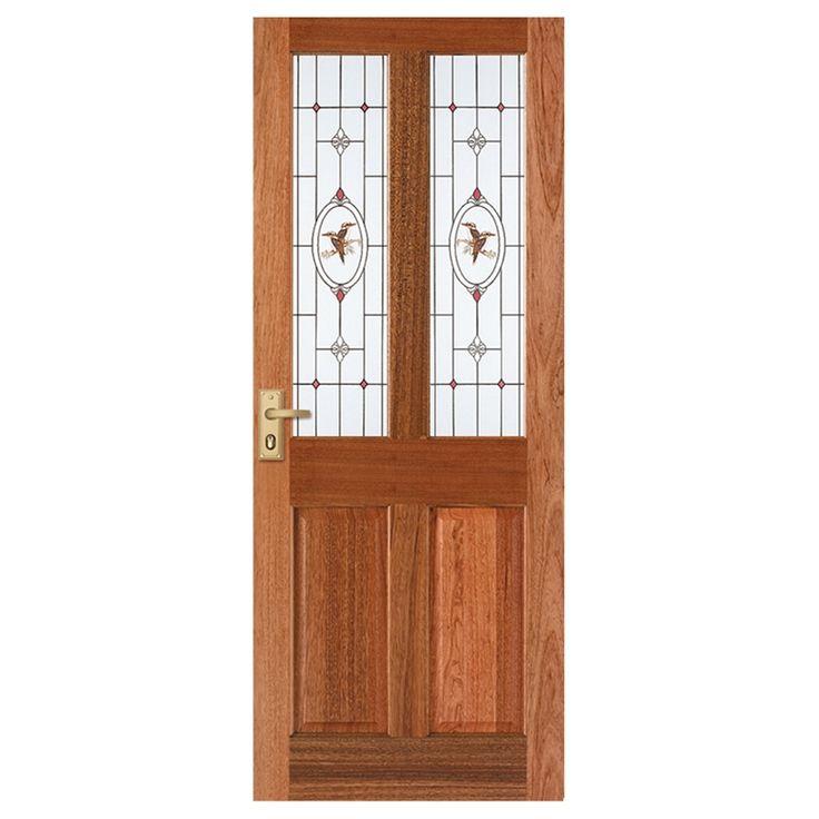 Corinthian 2040 x 820 x 40 Windsor Entrance Door With Kookaburra Jewel Patterned Glass