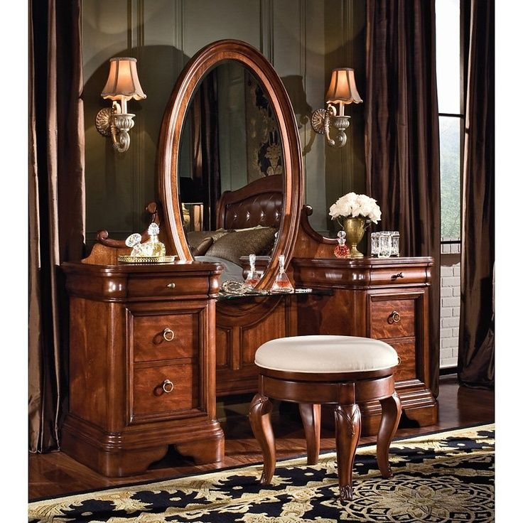 Bedroom Vanities - Antique Vanity Set For